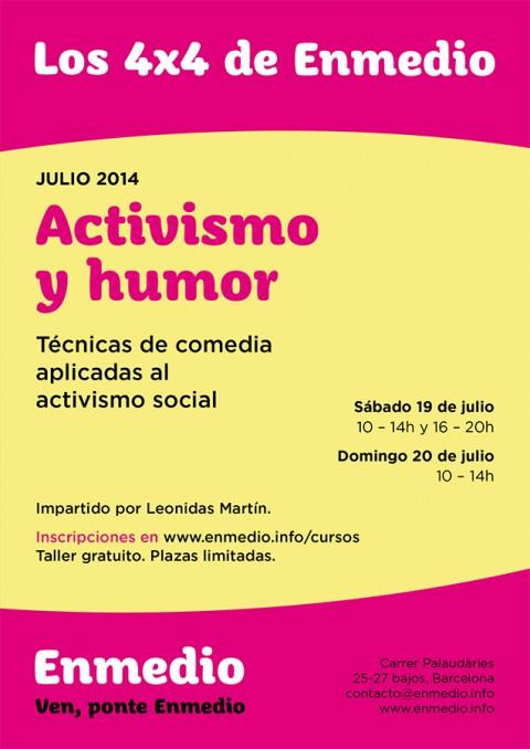 Cartel Activismo y humor